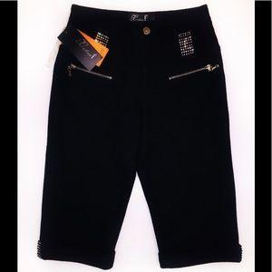 NEW HIDIER Black Crop Pants-Size 26